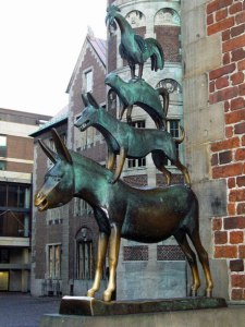 The Town Musicians Of Bremen Statue