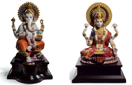 Lladro Ganesha Lakshmi