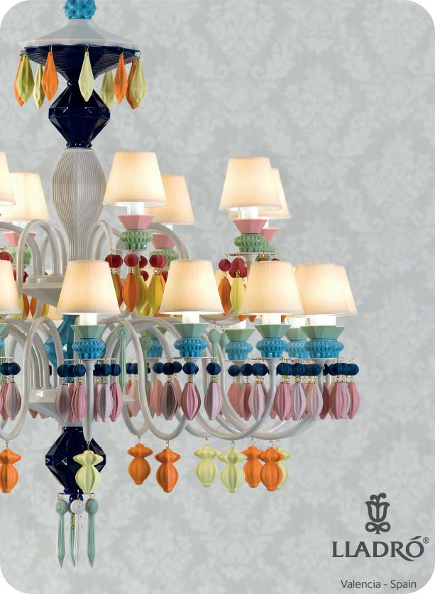 Lladro Belle De Nuit Multi Color Chandelier
